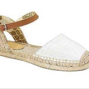 Sperry Hope White Ankle Strap Espadrille Sandal